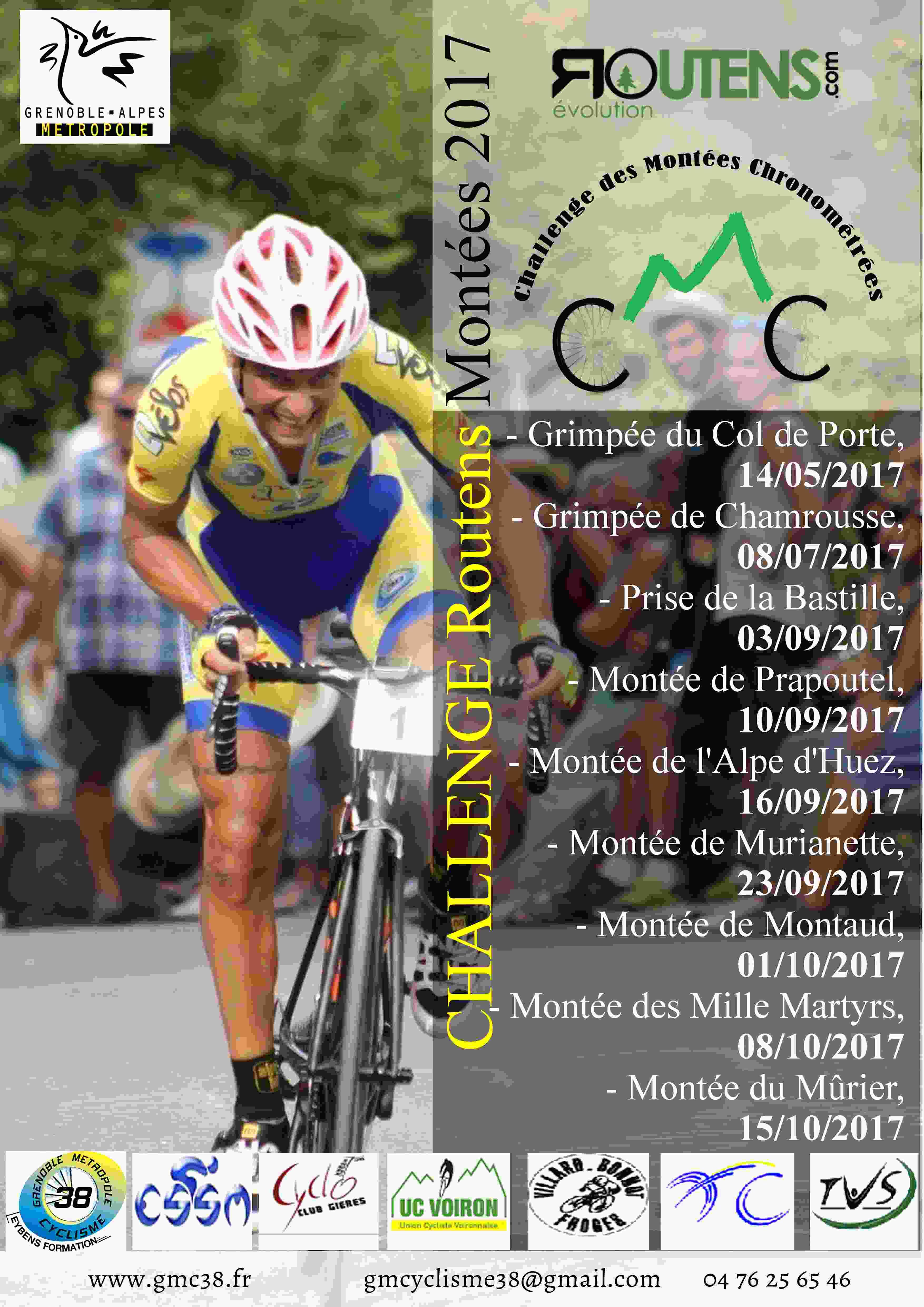 Première manche du challenge Routens des montées chronométrées : le col de Porte
