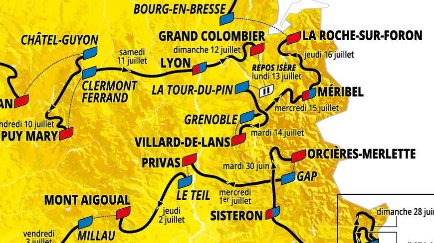 Journée de lancement du Tour de France ce mardi en Isère !